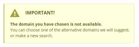 Adresse de site web non-disponible